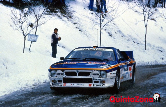 """Gianfranco Cunico in azione al """"Ciocco"""" 1985"""