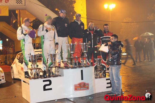 Il podio del Rally Ronde Valli Arnaresi 2014