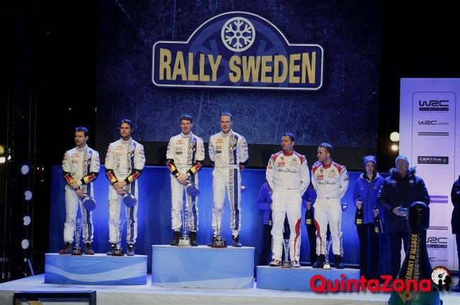 Podio Rally di Svezia 2014