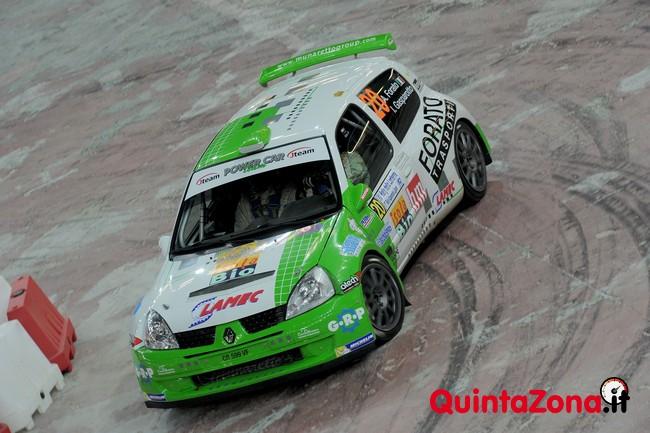 Antonio Forato, Ivan Gasparotto (Renault Clio S1600, #20) PS1 Palasport