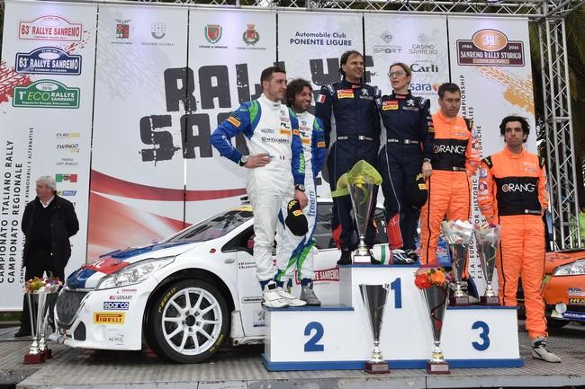 Podio: Paolo Andreucci, Anna Andreussi (Peugeot 208 T16 R5 #1, F.P.F. Sport), Alessandro Perico, Mauro Turati (Peugeot 208 T16 R5 #4, Pa Racing), Simone Campedelli, Danilo Fappani (Peugeot 208 R5 #9, Accademy Asd)