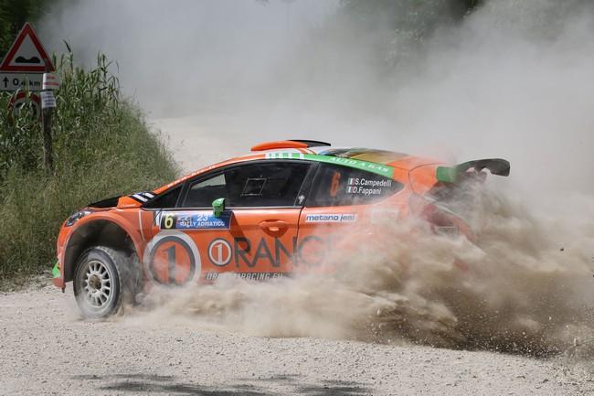 Simone Campedelli, Danilo Fappani (Ford Fiesta R R5 #6, O1 Racing Asd)